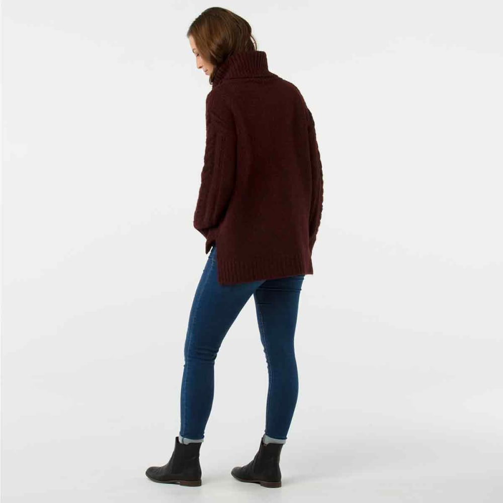 SMARTWOOL Women's Moon Ridge Boyfriend Sweater - A13-FIG