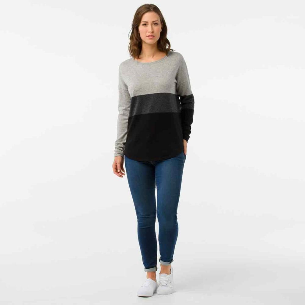 SMARTWOOL Women's Shadow Pine Crew Sweater - 001-BLACK