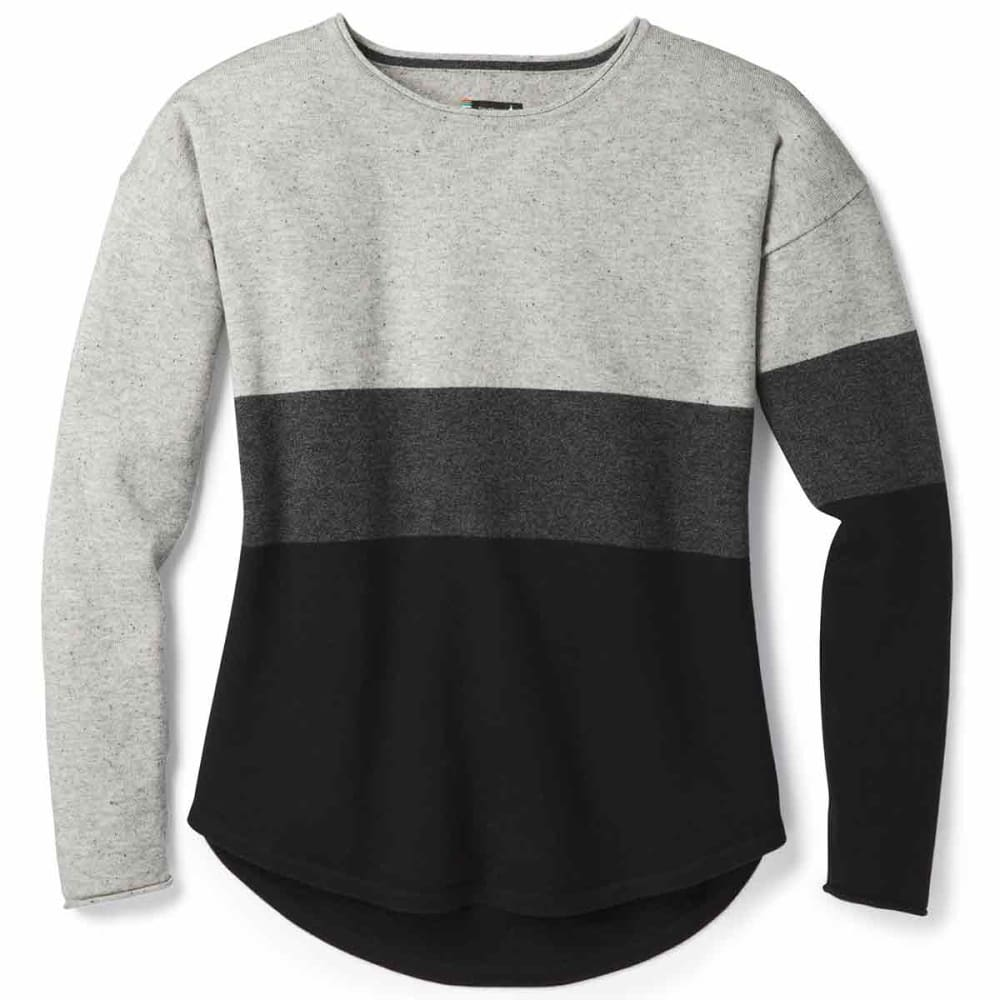 SMARTWOOL Women's Shadow Pine Crew Sweater - 001-BLACK