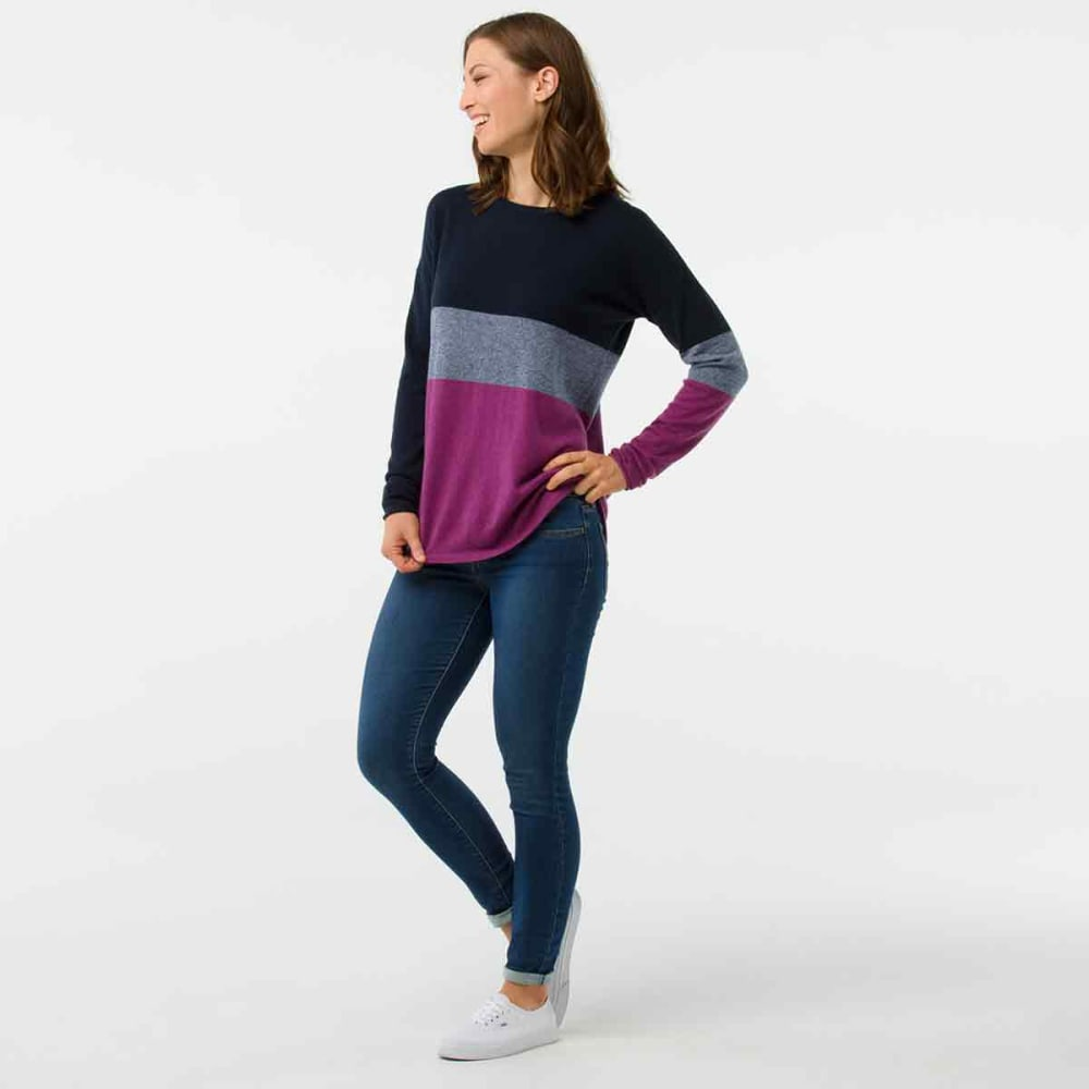 SMARTWOOL Women's Shadow Pine Crew Sweater - 108-DEEP NAVY HEATHE