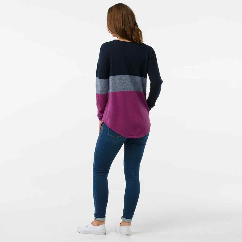 SMARTWOOL Women's Shadow Pine Crew Sweater - 108-DEEP NAVY HEATHE