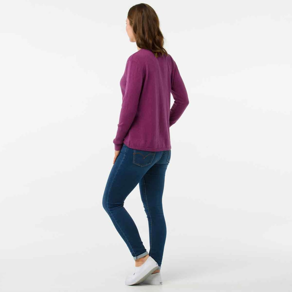 SMARTWOOL Women's Shadow Pine V-Neck Sweater - A11-MEADIOW MAUVE