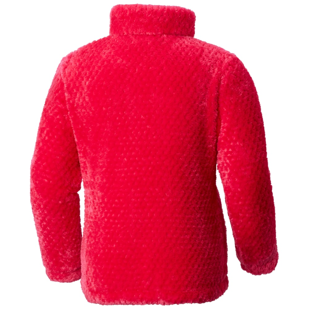 COLUMBIA Big Girls' Fluffy Fleece Full-Zip Jacket - 612-CACTUS PINK