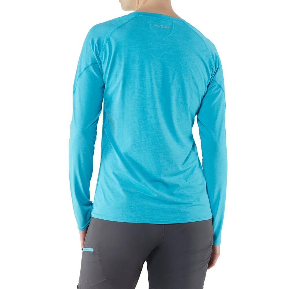 NRS Women's H2Core Silkweight Long-Sleeve Shirt - BLUE ATOLL