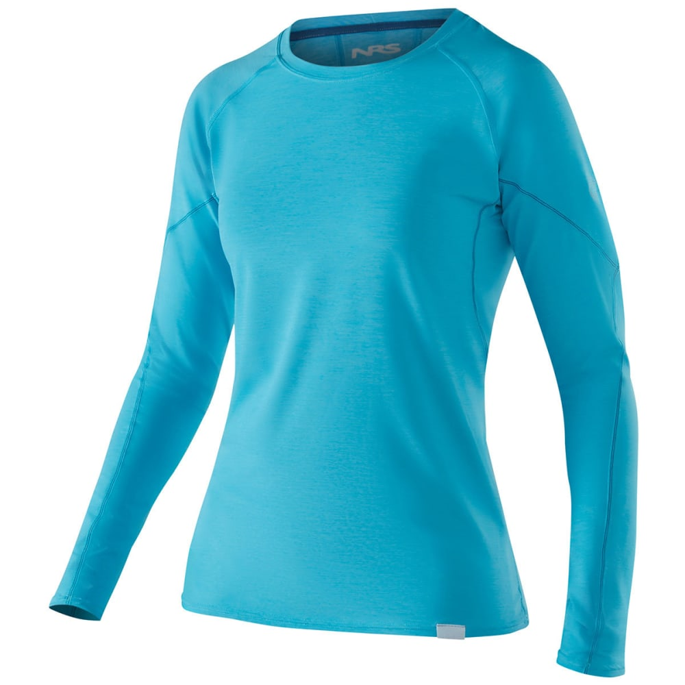 NRS Women's H2Core Silkweight Long-Sleeve Shirt - BLUE ATOLL