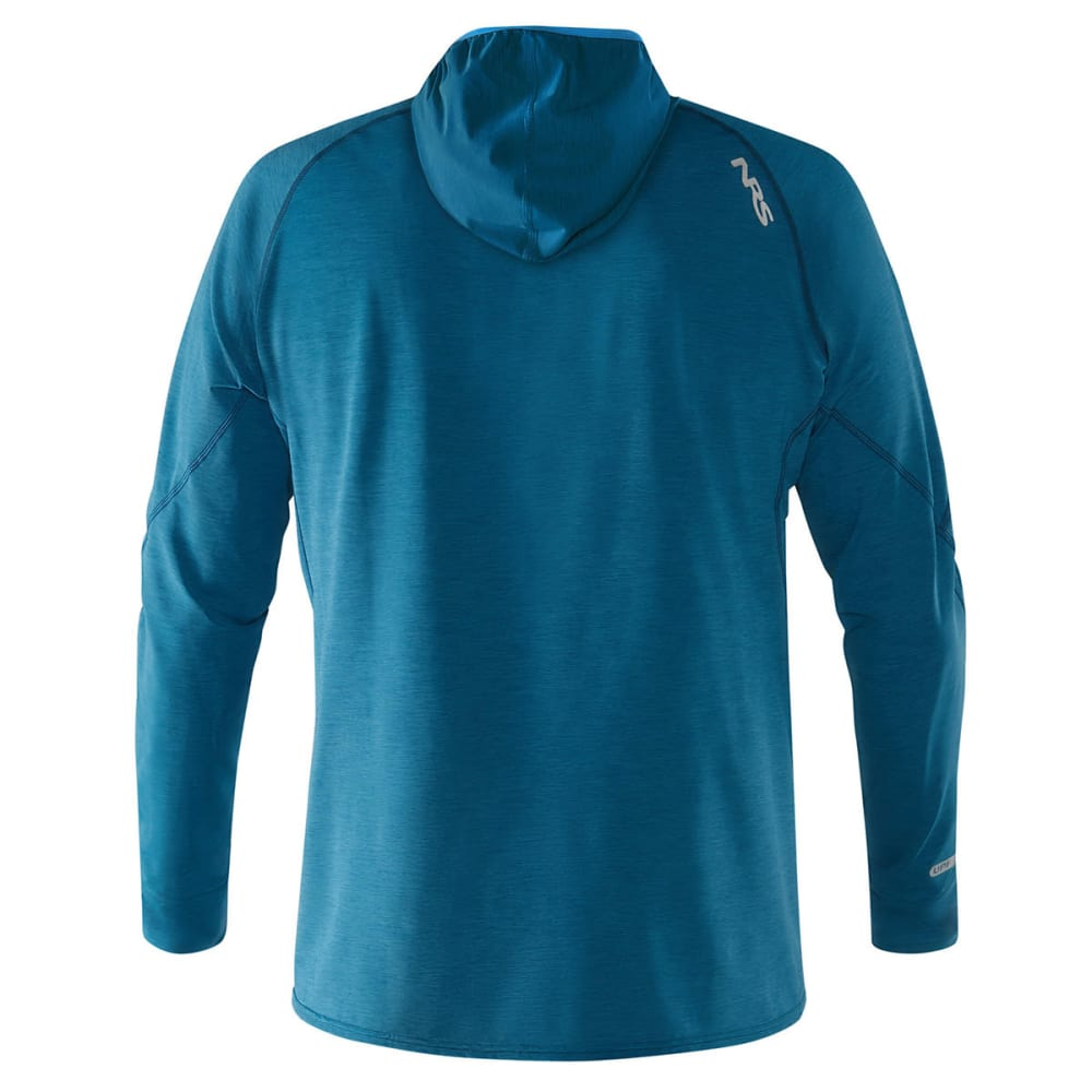 NRS Men's H2Core Silkweight Paddling Hoodie - MOROCCAN BLUE