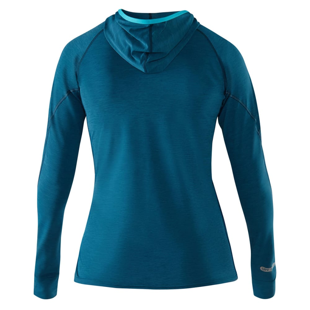 NRS Women's H2Core Silkweight Paddling Hoodie - MOROCCAN BLUE