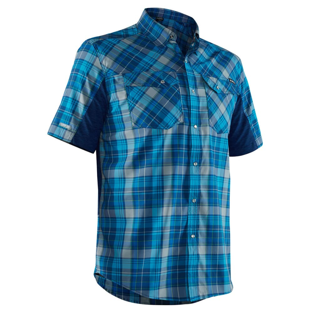 NRS Men's Guide Short-Sleeve Shirt - BLUE