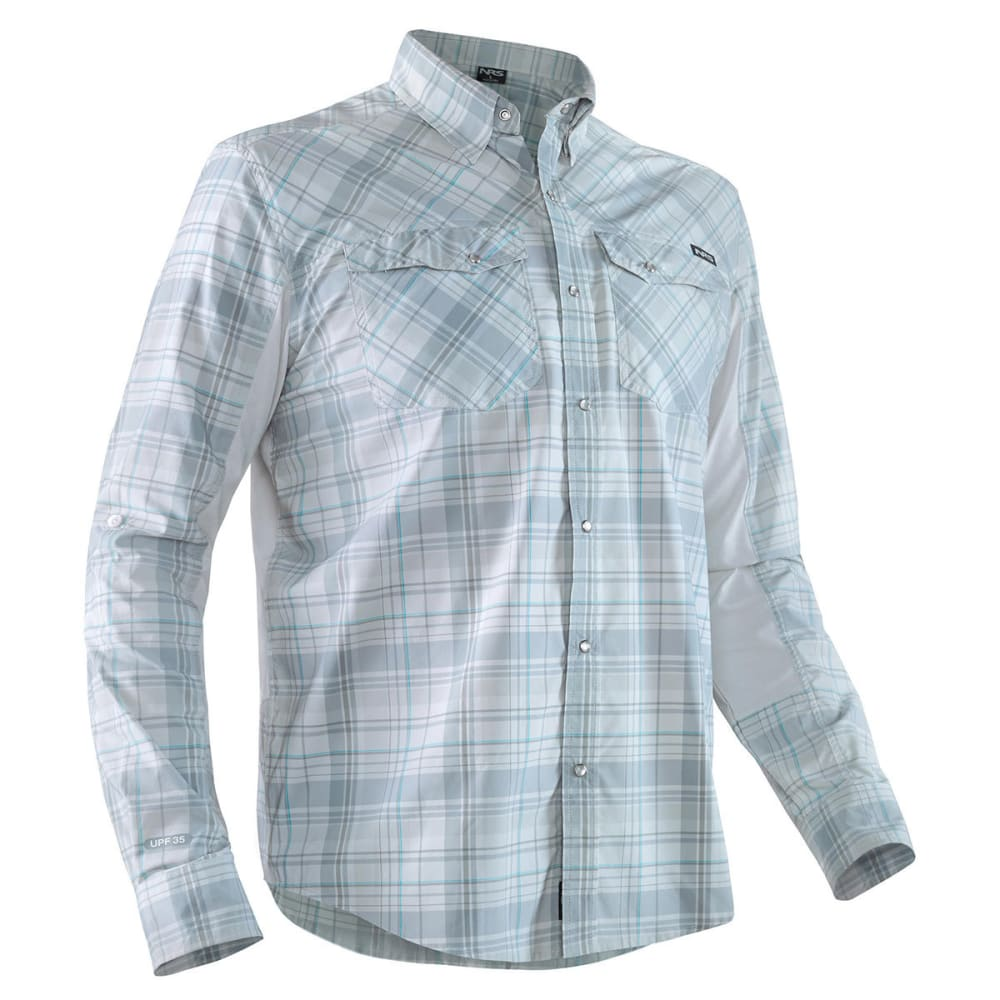 NRS Men's Guide Long-Sleeve Shirt - GRAY