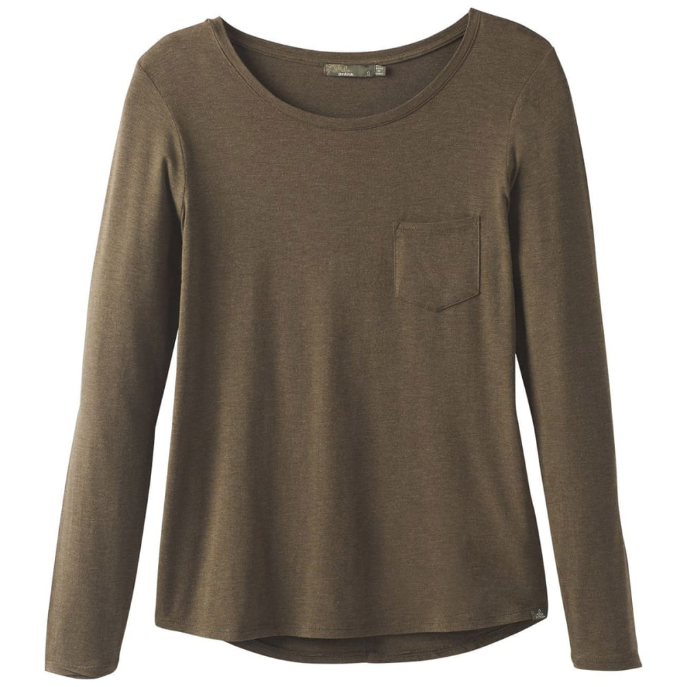 PRANA Women's Foundation Long-Sleeve Crew Neck Top XL