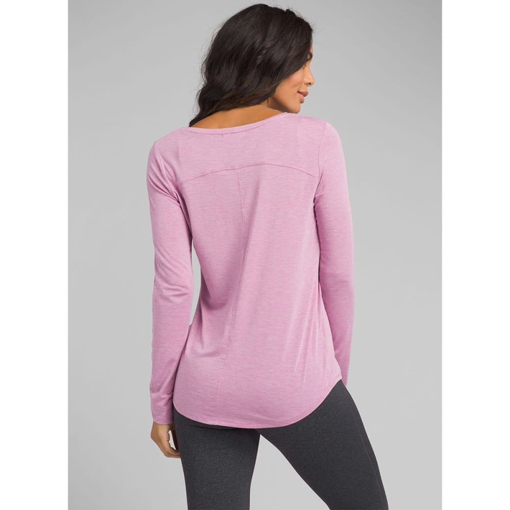 PRANA Women's Foundation Long-Sleeve Crew Neck Top - Orchid Heather