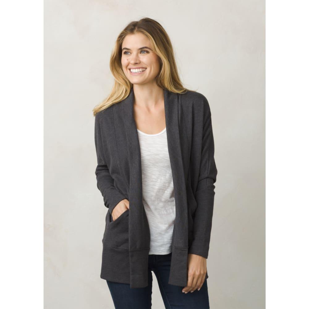 PRANA Women's Centerpiece Wrap Cardigan - BLACK