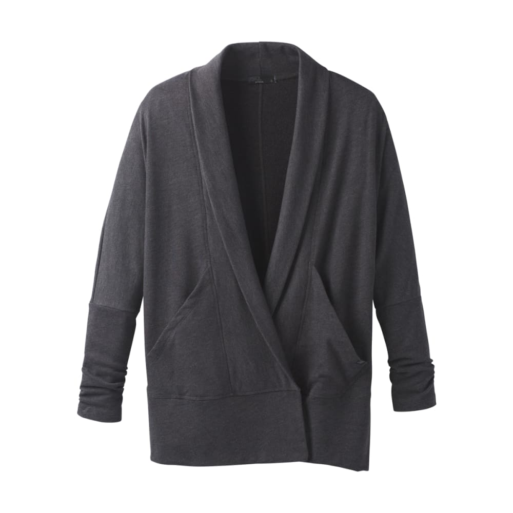PRANA Women's Centerpiece Wrap Cardigan - BLACK