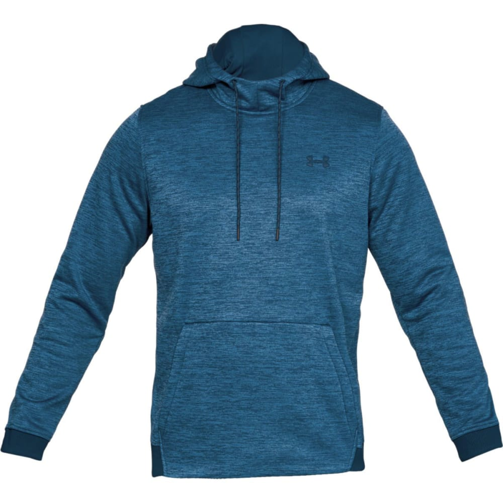 UNDER ARMOUR Men's Armour Fleece Twist Pullover Hoodie - TEAL-489
