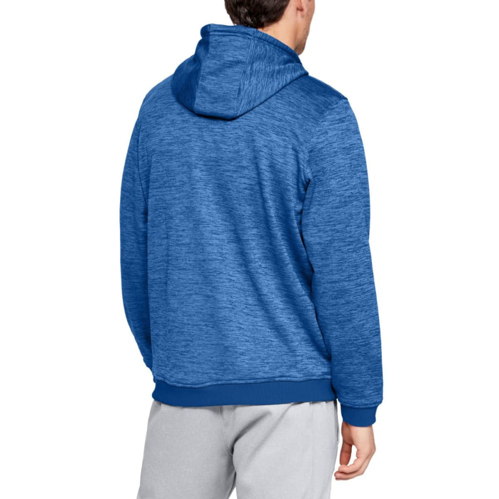 UNDER ARMOUR Men's Armour Fleece Twist Pullover Hoodie - 400-ROYAL/BLK