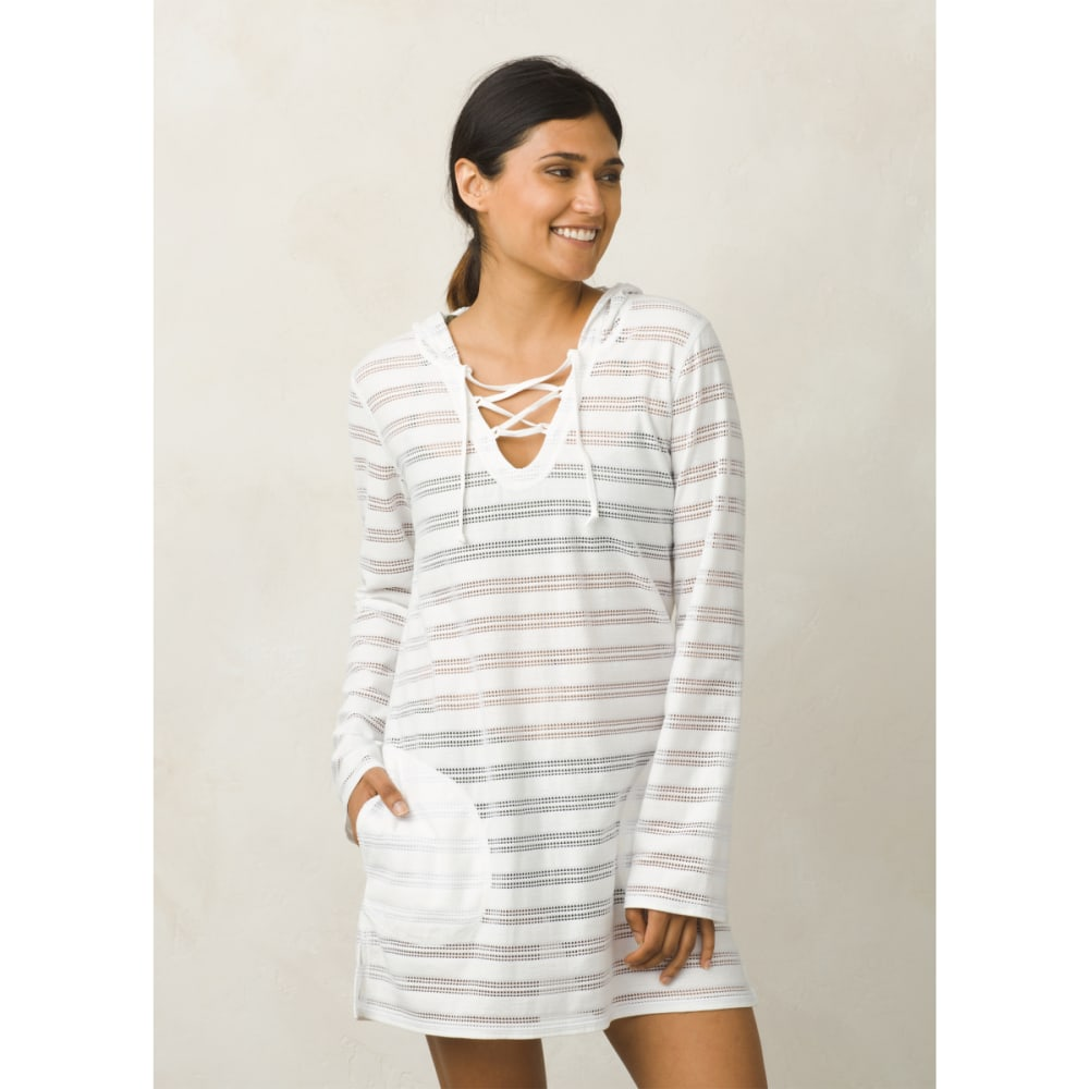PRANA Women's Alexia Tunic Top - White Crochet