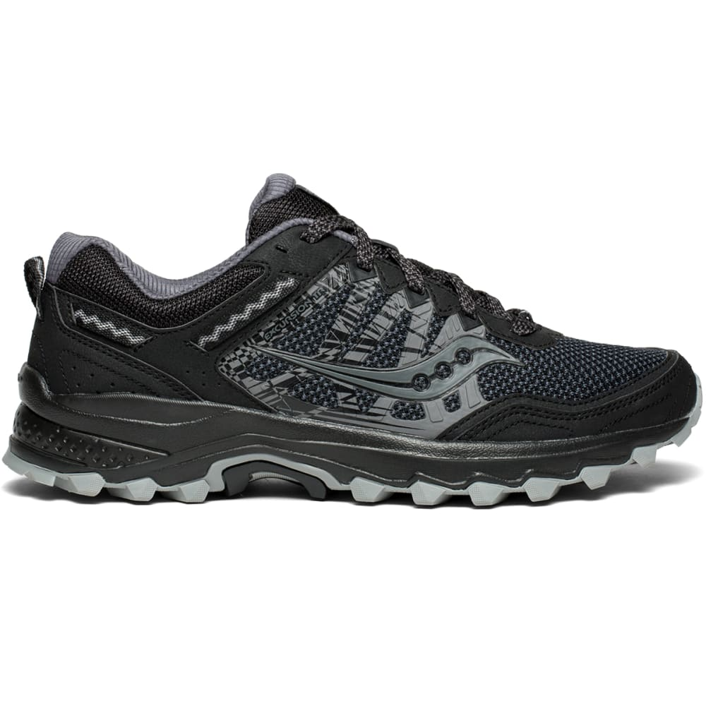 SAUCONY Men's Grid Excursion TR12 Trail Running Shoes - BLACK - 2