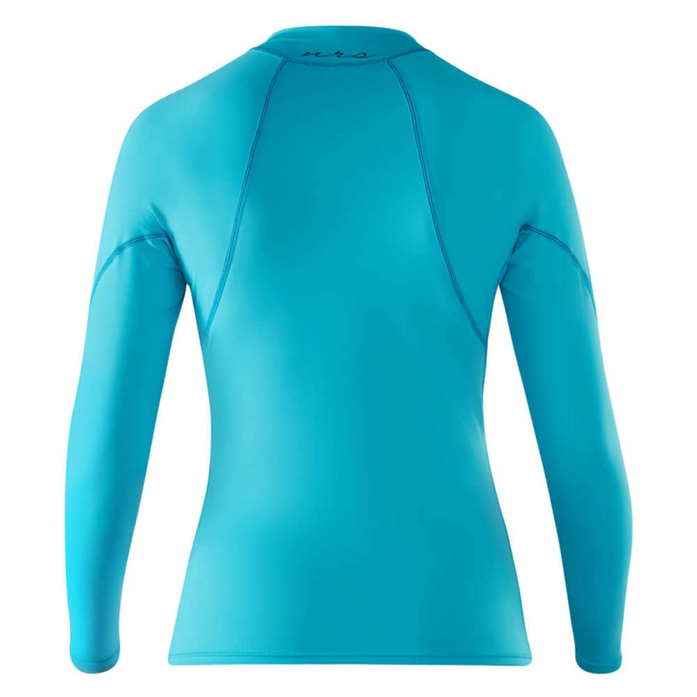 NRS Women's H2Core Rashguard Long-Sleeve Shirt - BLUE ATOLL