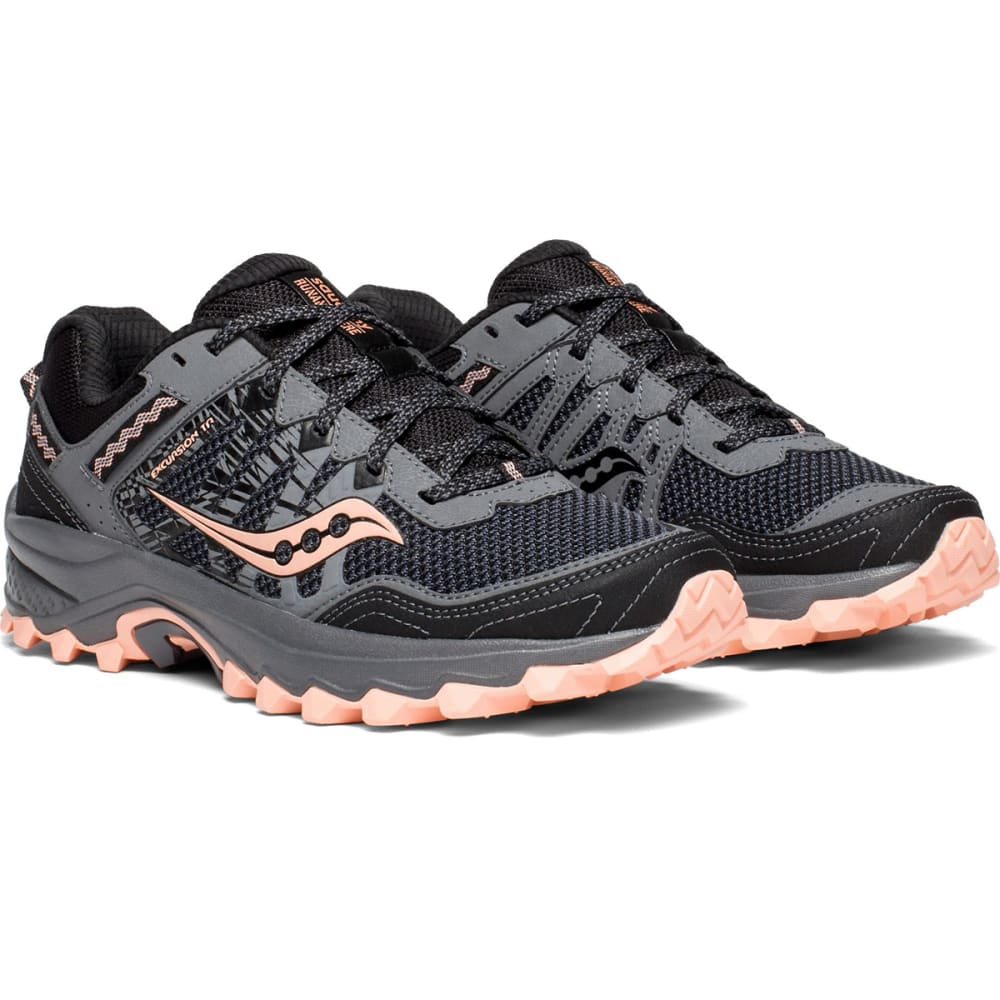 SAUCONY Women's Grid Excursion TR12 Trail Running Shoes, Wide - GREY-2