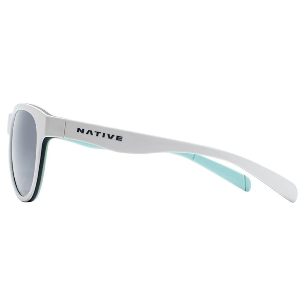 NATIVE EYEWEAR Acadia Polarized Sunglasses - MATTE WHITE/GRAY/MNT