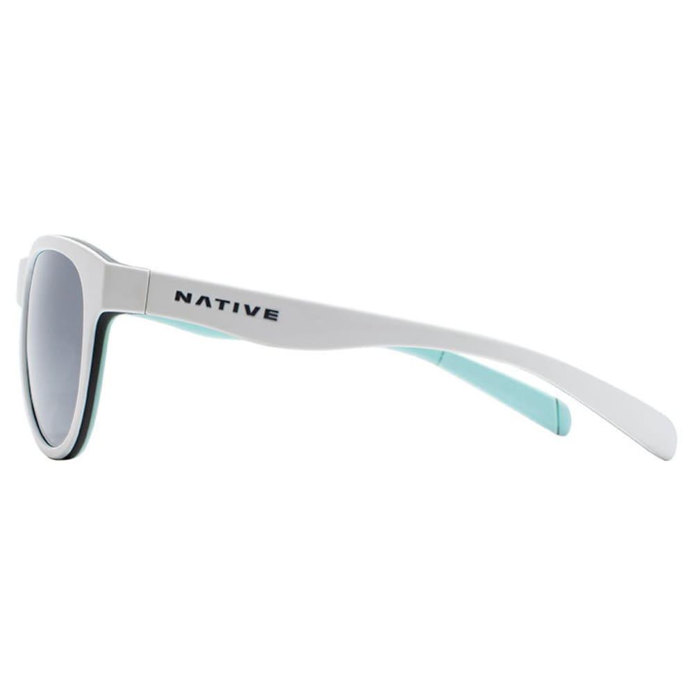 NATIVE EYEWEAR Acadia Polarized Sunglasses - MATTE WHITE/GRAY/MNT