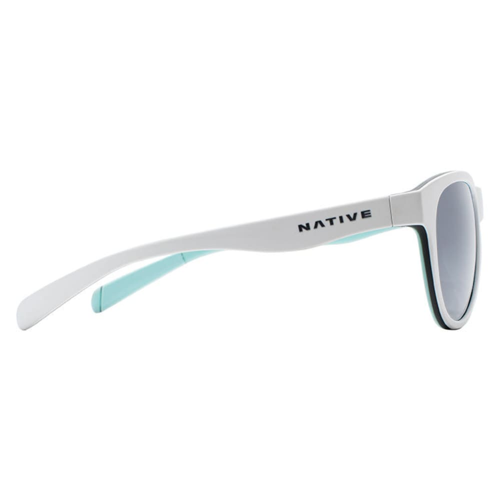 dcb6e657fb6 ... NATIVE EYEWEAR Acadia Polarized Sunglasses - MATTE WHITE GRAY MNT ...