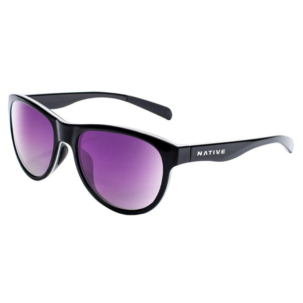 NATIVE EYEWEAR Acadia Sunglasses - BLACK/WHITE/BLACK