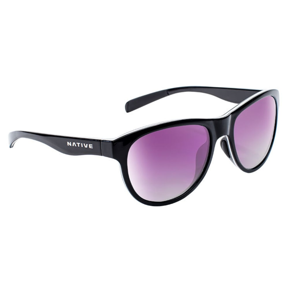 NATIVE EYEWEAR Acadia Sunglasses - BLACK/WHITE/BLACK