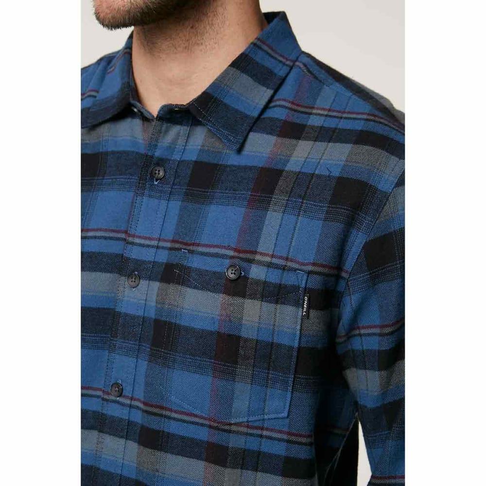 O'NEILL Guys' Redmond Long-Sleeve Flannel Shirt - BLUE-BLU