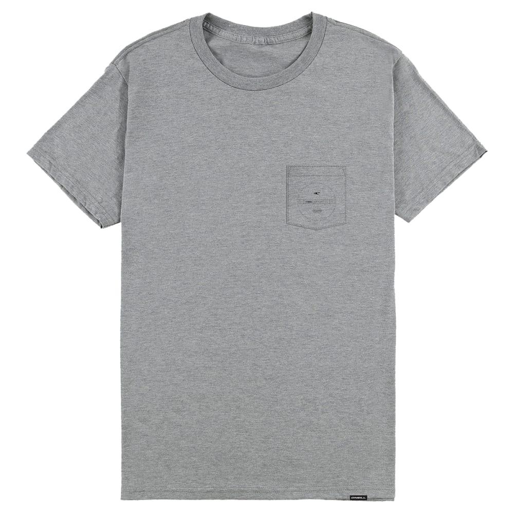 O'NEILL Guys' Division Pocket Short-Sleeve Tee - MED HEATHER GREY-MHG