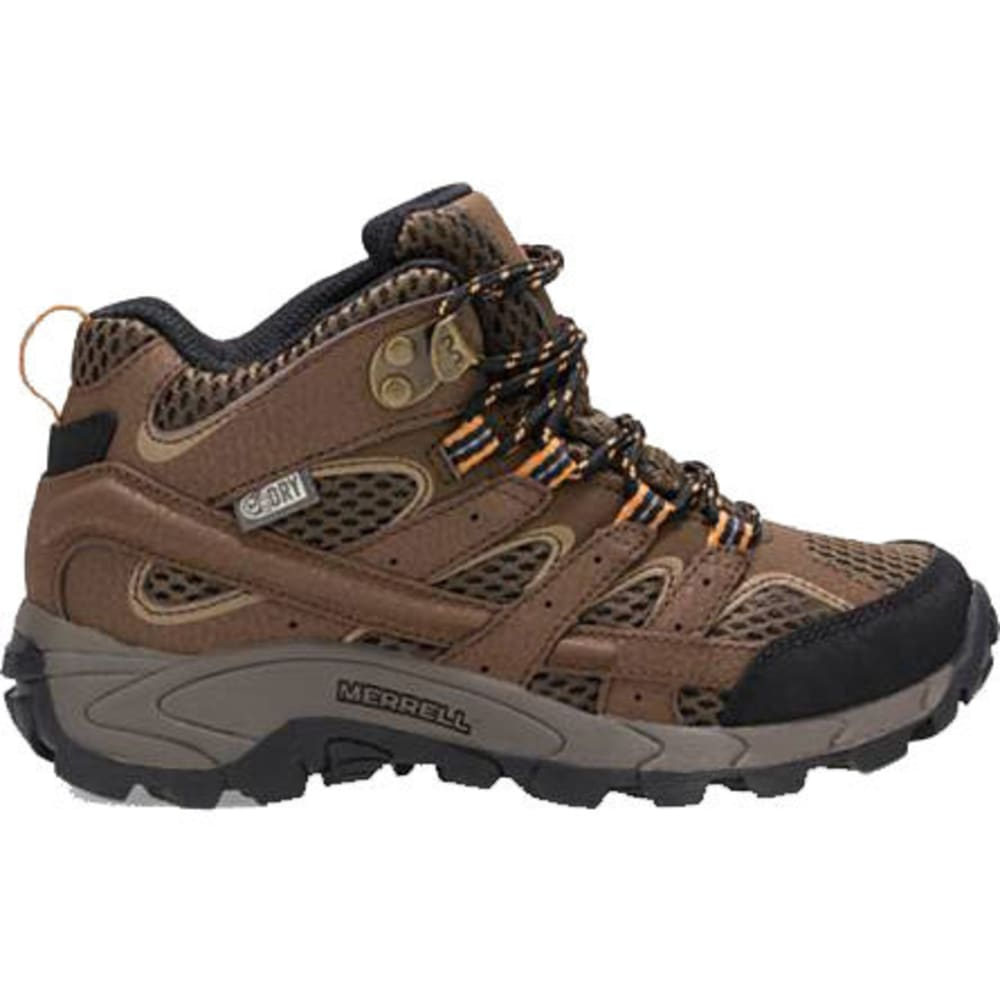 MERRELL Big Kids' Moab 2 Mid A/C Waterproof Boots - EARTH