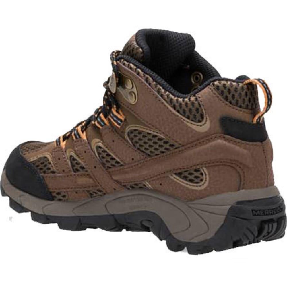 MERRELL Big Kids' Moab 2 Mid A/C Waterproof Boots - EARTH