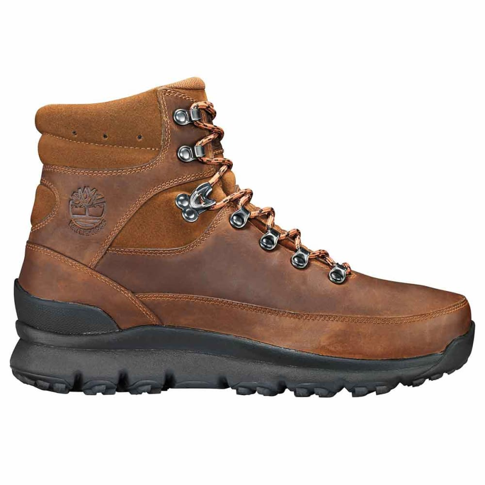 TIMBERLAND Men's World Hiker Mid Waterproof Hiking Boots - DK BROWN