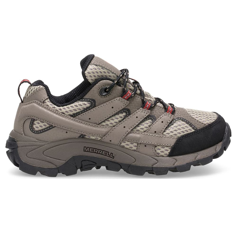 bef63e82b136 MERRELL Big Boys  39  Moab 2 Low Lace-Up Waterproof Hiking Shoes -