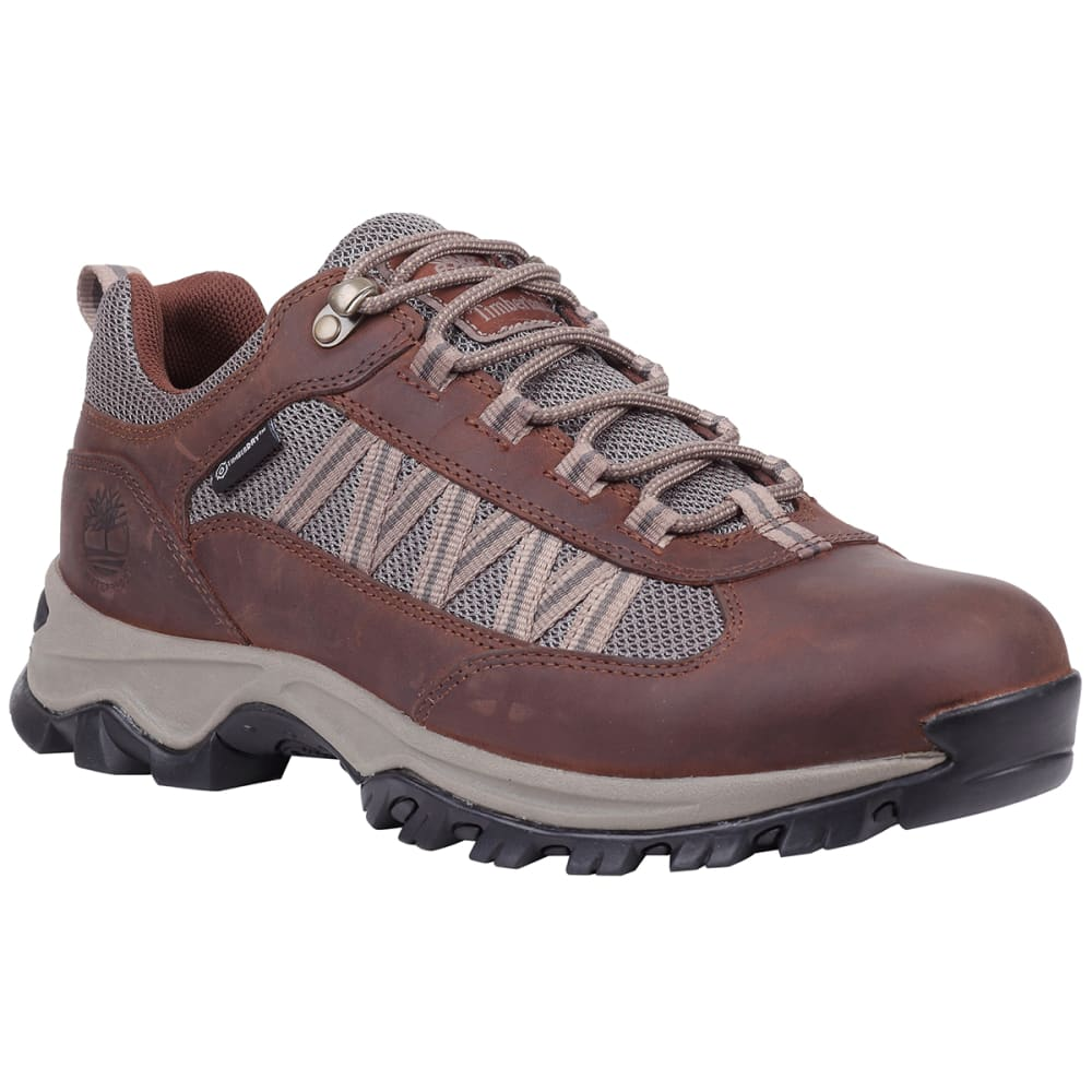 TIMBERLAND Men's Mt. Maddsen Lite Waterproof Low Hiking Shoes - DARK BROWN
