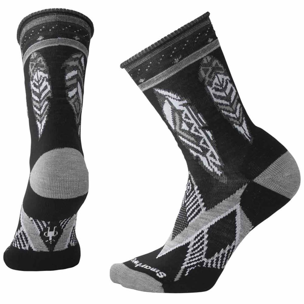 SMARTWOOL Women's Feather Dream Non-Binding Crew Socks - 001-BLACK