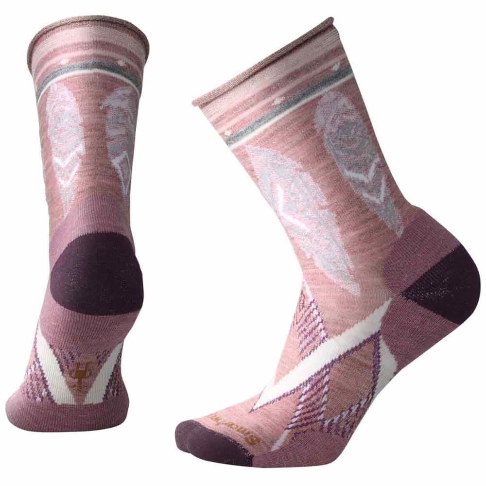 SMARTWOOL Women's Feather Dream Non-Binding Crew Socks - A12-NOSTALGIA ROSE