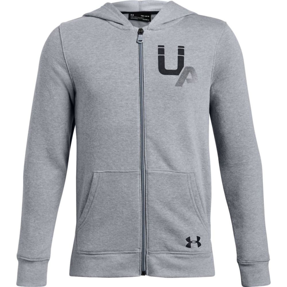 UNDER ARMOUR Big Boys' UA Rival Logo Full-Zip Hoodie S