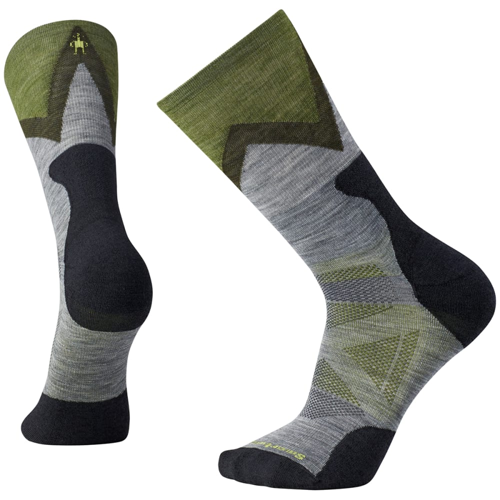 SMARTWOOL Men's PhD Pro Approach Light Elite Crew Socks - 052-MED GREY