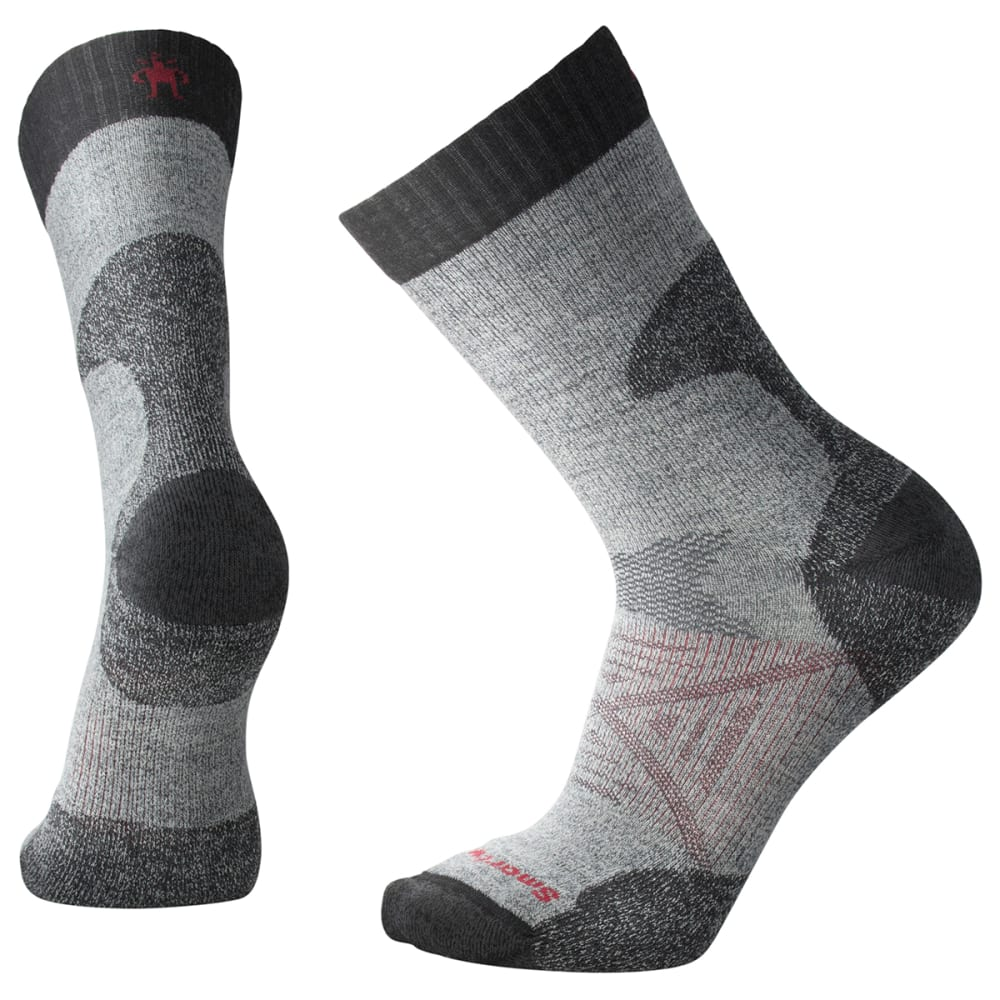 SMARTWOOL Men's PhD Pro Light Crew Socks - 052-MED GREY