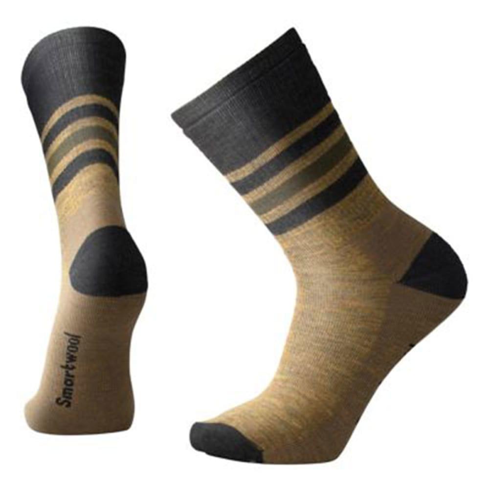 SMARTWOOL Men's Striped Hike Medium Crew Socks - A37-DESSERT SAND