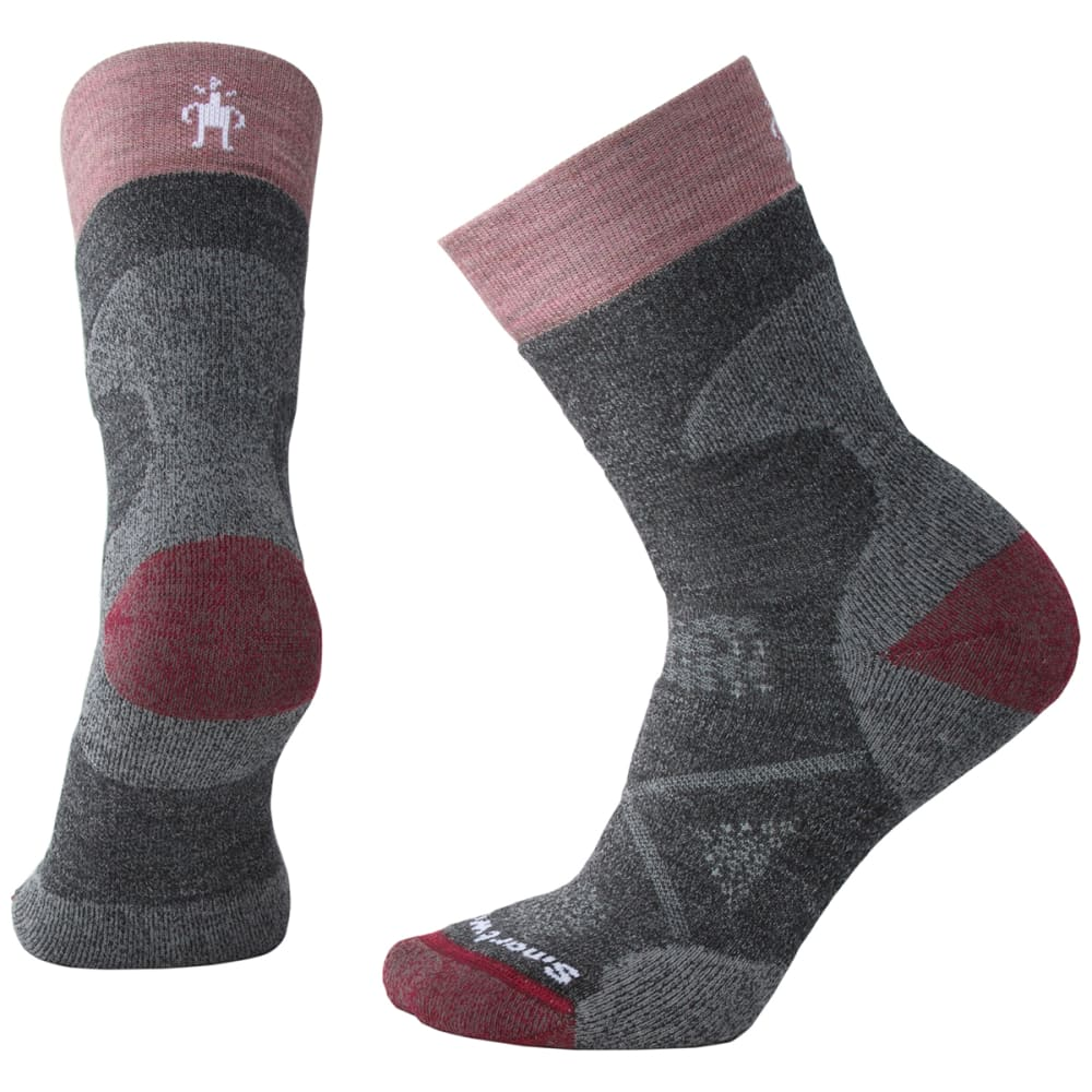 SMARTWOOL Women's PhD Pro Medium Crew Socks - 052-MED GREY