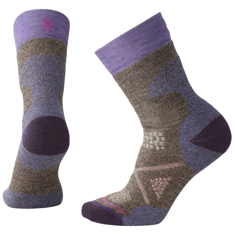 SMARTWOOL Women's PhD Pro Medium Crew Socks - 207-CHESTNUT