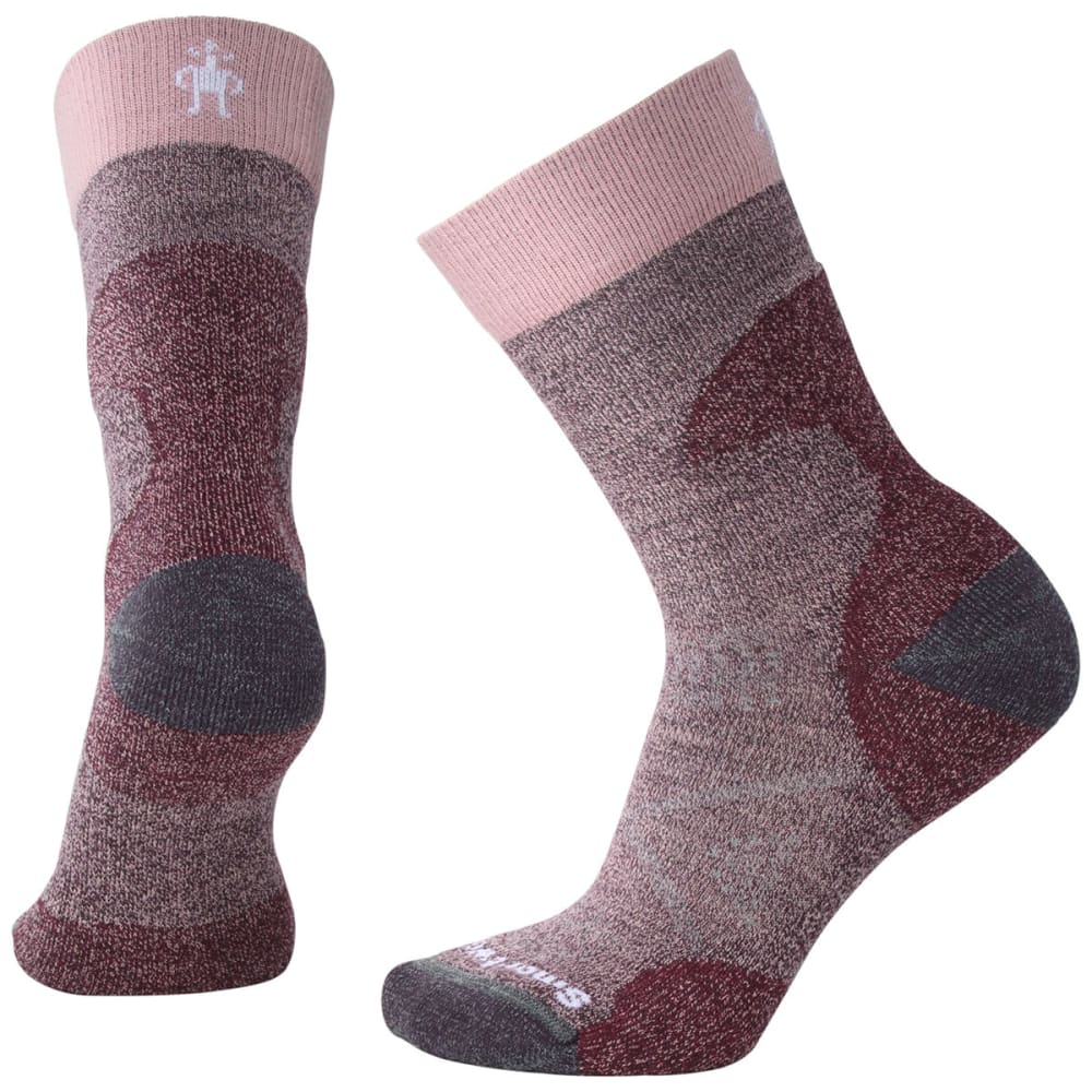 SMARTWOOL Women's PhD Pro Light Crew Socks - 590-BORDEAUX