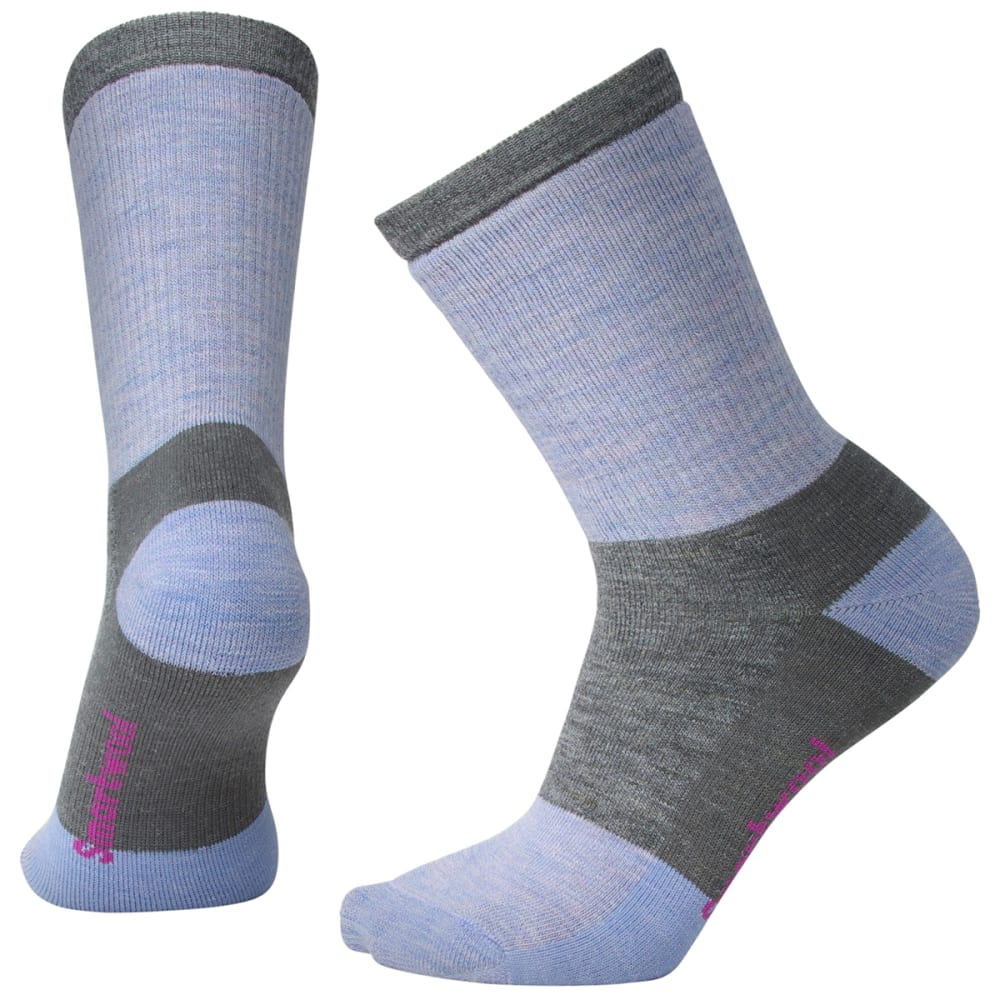 SMARTWOOL Women's Striped Hike Medium Crew Socks - 052-MED GREY