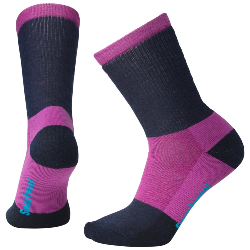 SMARTWOOL Women's Striped Hike Medium Crew Socks - A22-MEADOW MAUVE