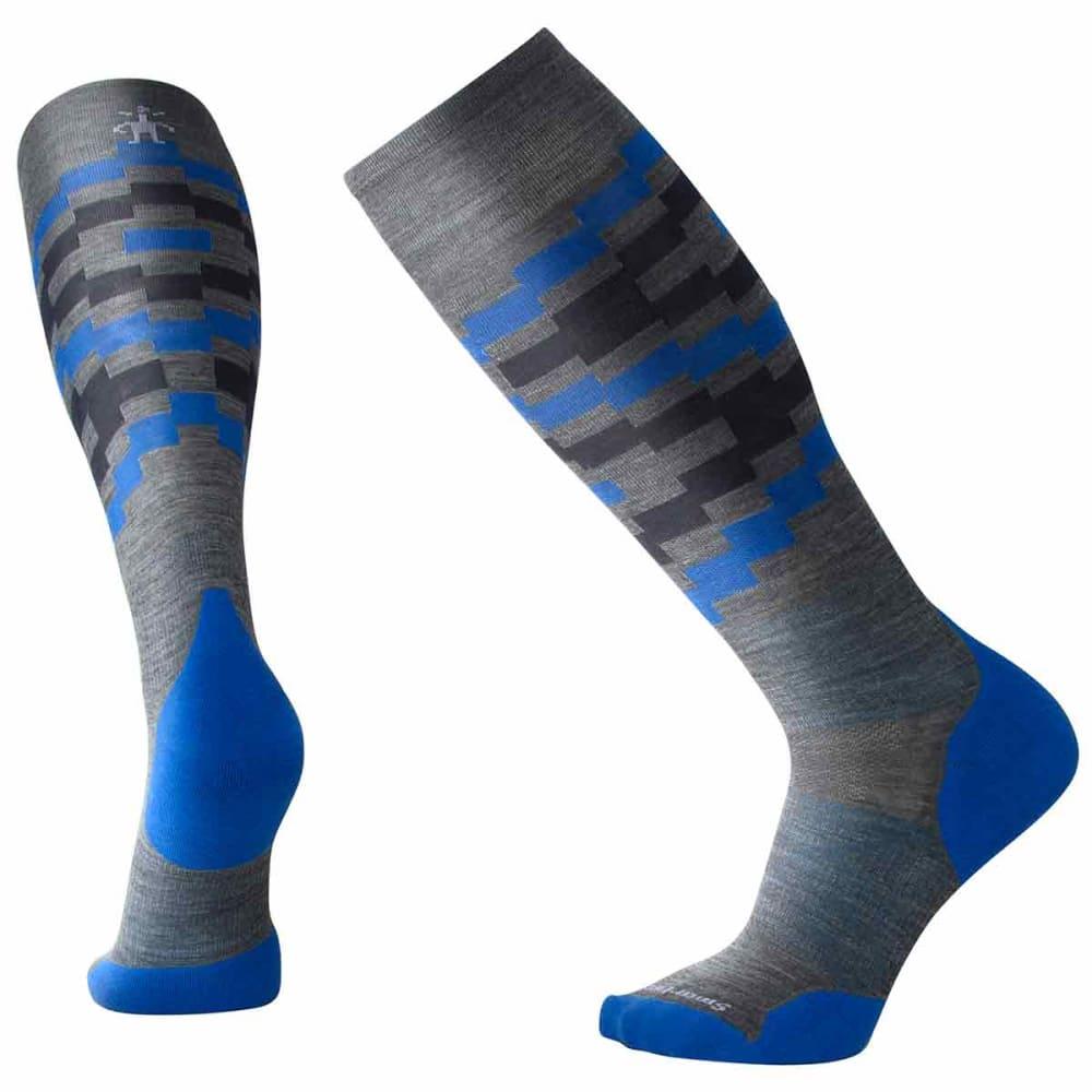 SMARTWOOL Men's PhD Ski Light Elite Pattern Socks - 052-MED GREY