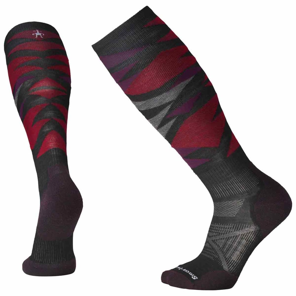 SMARTWOOL Men's PhD Ski Light Pattern Socks - 001-BLACK