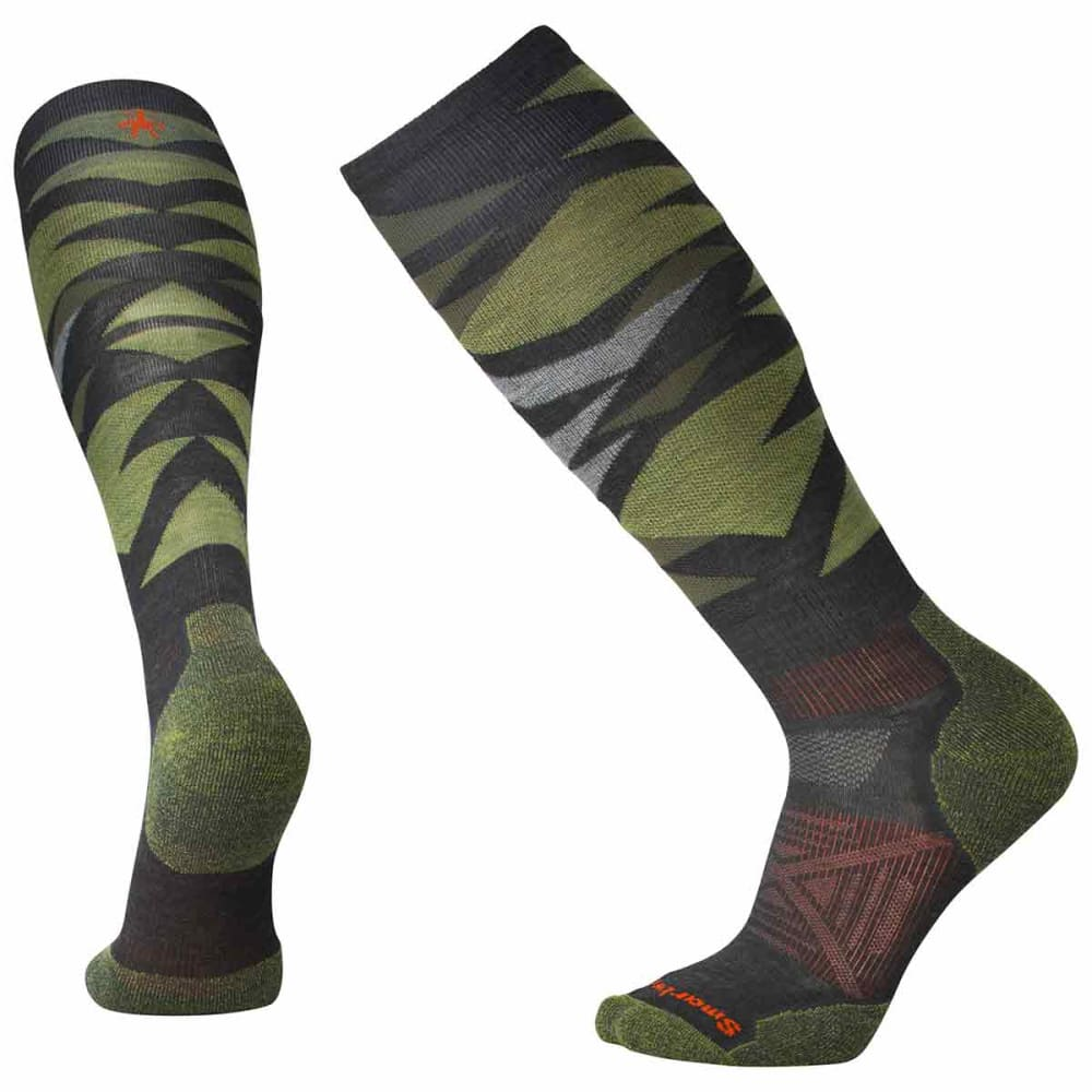 SMARTWOOL Men's PhD Ski Light Pattern Socks - 003-CHARCOAL