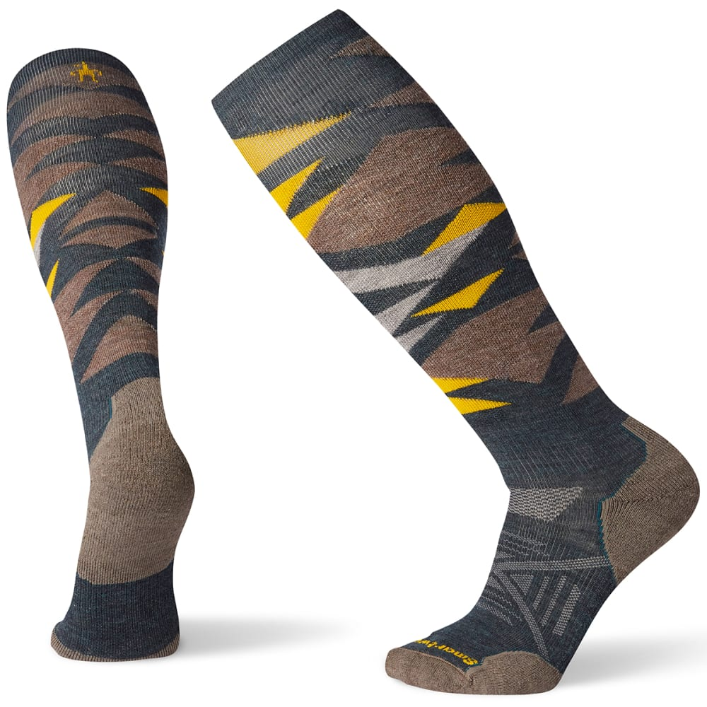 SMARTWOOL Men's PhD Ski Light Pattern Socks - B96 - EVERGLADE